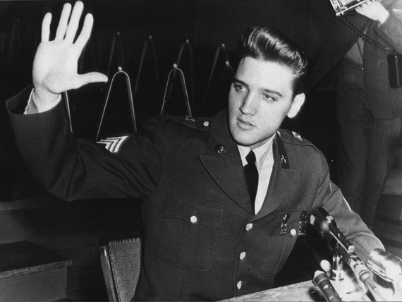 Elvis Presley am 1. März 1960 in den Friedberger Ray Barracks (Foto: Horst Schüssler)